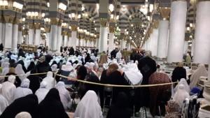 Dalam masjid nabawi.. Jemaah Wanita
