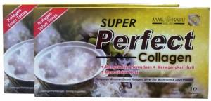 Super Perfect Collagen satu kotak ada 10 sachet.. Ambil 1 sachet sehari sebelum tidur.. 3 kotak cukup utk sebulan..