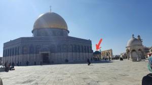 Kubah nabi tempat nabi bersolat dn mengimamkan para rasul dn nabi seramai 124 ribu.. X termasuk malaikat..