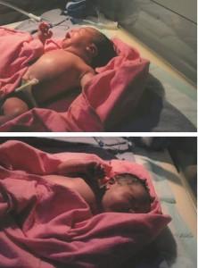 Amani selepas dilahirkan..